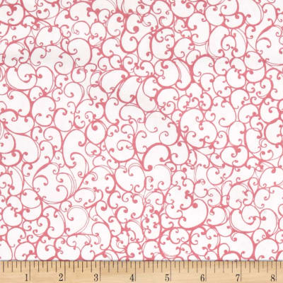 Loralie Designs On The Mend Scrollie White Pink