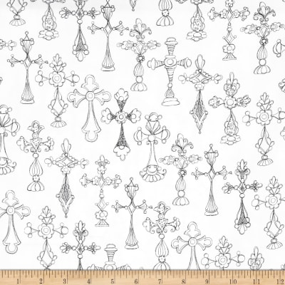 Loralie Designs Church Ladies Bias Cross White