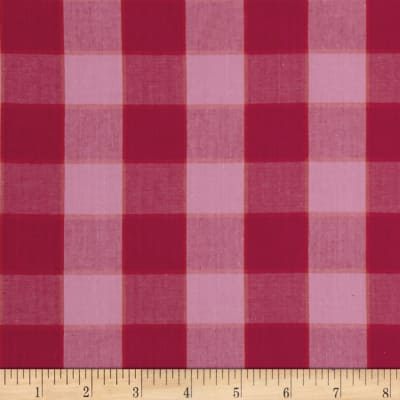Artisan by Kaffe Fasset Yarn Dyed Wovens Checkerboard Plaid Ikat Lipstick