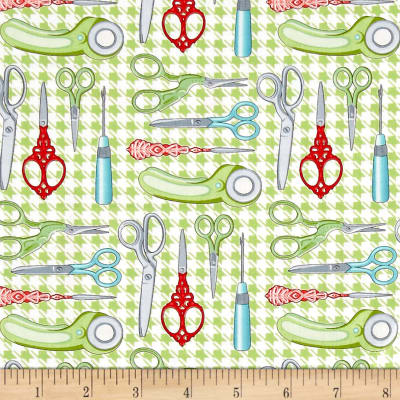 Sewing Room Scissors Green