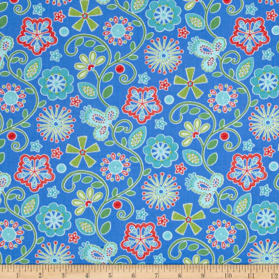 Sewing Room Embroidery Peri Blue