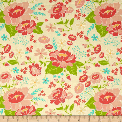 Moda LuLu Lane Flower Garden Canary