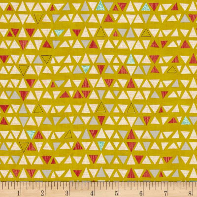 Moda Ninja Cookies Triangles Chartreuse