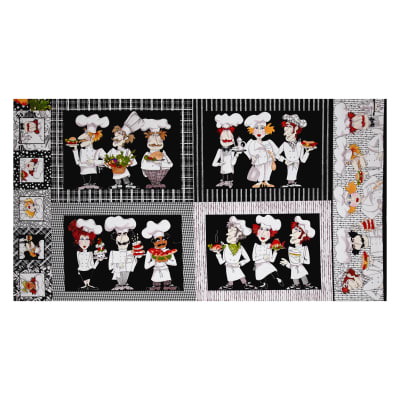 Loralie Designs What's Cookin'? Placemat Panel Black