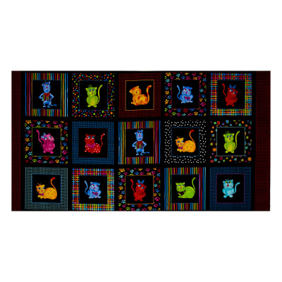 "Loralie Designs Cool Cats 23.5"" Panel Multi"