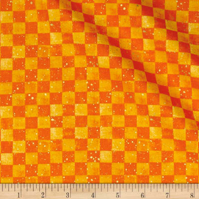 Bountiful Harvest Checkerboard Orange Metallic