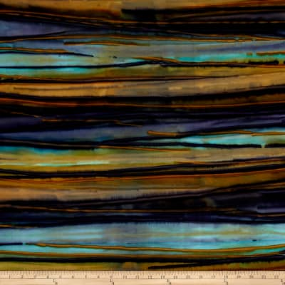 Kaufman Artisan Batiks Patina Handpaints Bold Stripes Pepper