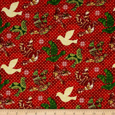 Peace on Earth Doves Red