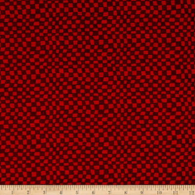 Snowman Christmas Checkerboard Red