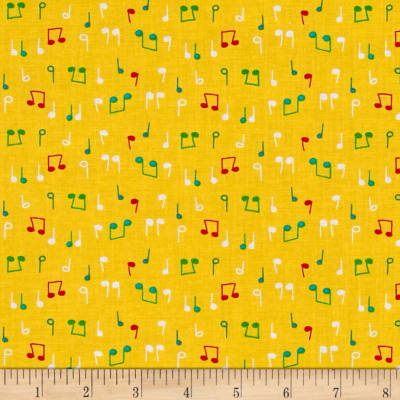 Nursery Rhymes Musical Notes Yellow
