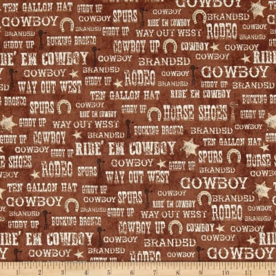 Ranch Hands Words Brown