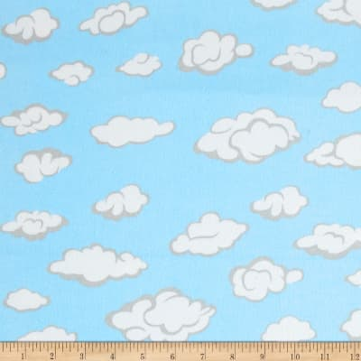 Combine into AH-192 Comfy  Flannel Clouds Blue