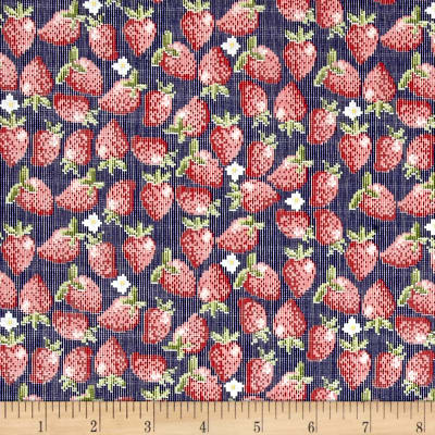 Riley Blake Into the Garden Strawberry Navy