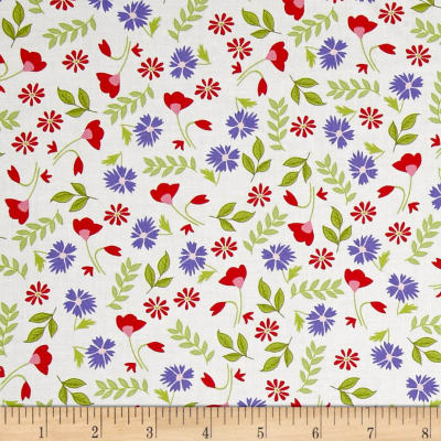 Penny Rose Meadow Sweets Floral White