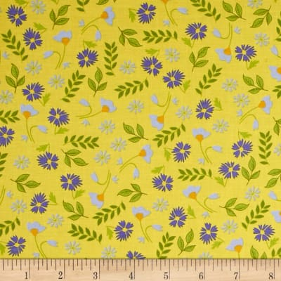 Penny Rose Meadow Sweets Floral Yellow
