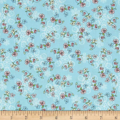 Laundry Day Tossed Floral Blue