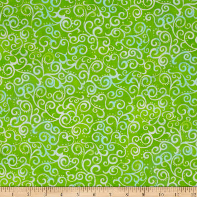 """Quilting Treasures 108"""" Wide Quilt Back Ombre Scroll Lime"""