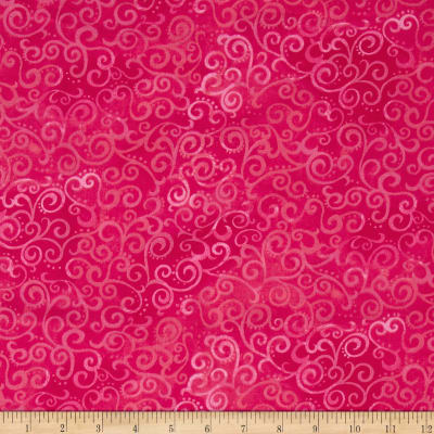 "Quilting Treasures 108"" Wide Quilt Back Ombre Scroll Hot Pink"