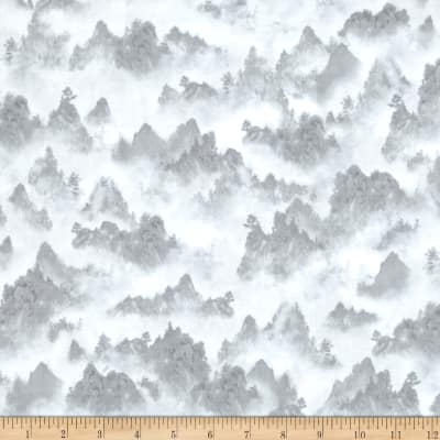 Quilting Treasures Imperial Panda Tonal Mountains Gray