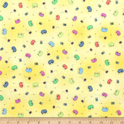 Fabric Follies Tossed Pin Cushions Butter