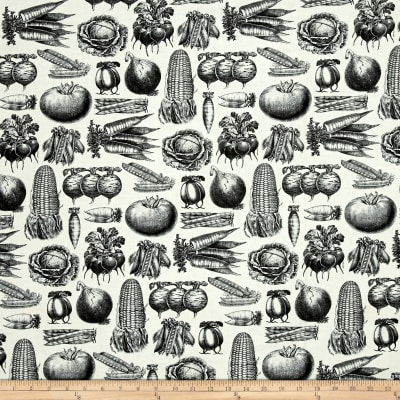 Farm To Table Vegetable Etchings Light Cream