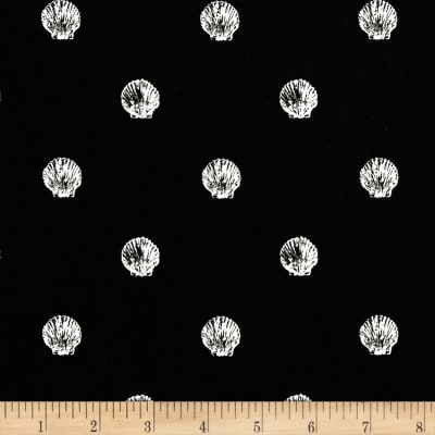 QT Fabrics She Sews Sea Shells Dot Black