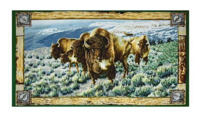 "Where The Buffalo Roam 23.5"" Panel Multi"