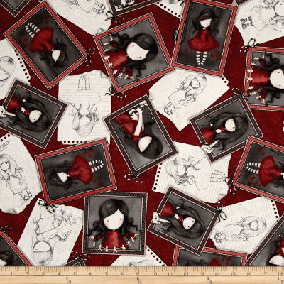 Letters From The Heart Girl Overlapping Patches Dark Cranberry
