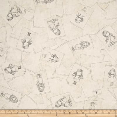 QT Fabrics Letters From The Heart Notepad Sketches Ecru