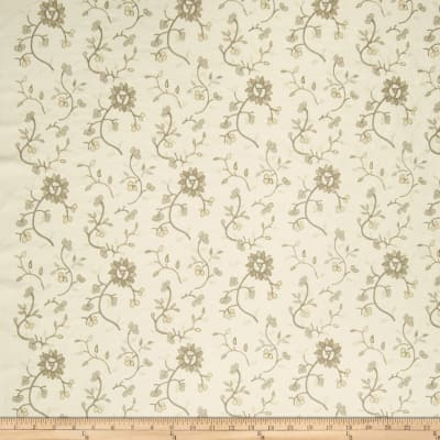 French General Emile Embroidered Linen Bisque