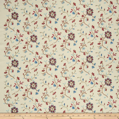 French General Emile Embroidered Linen Indigo