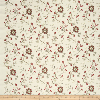 French General Emile Embroidered Linen Rural Red