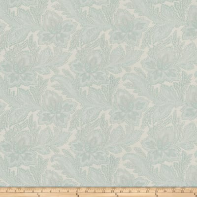 French General Fleur Indienne Jacquard La Mer