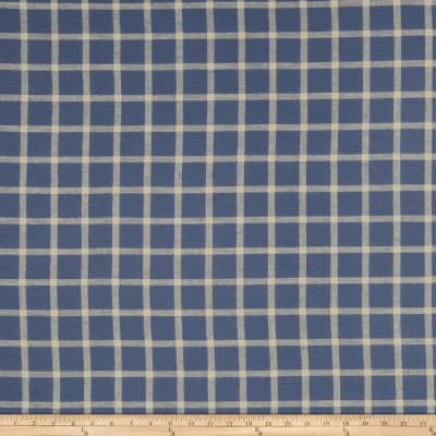 French General Septfond Linen Indigo
