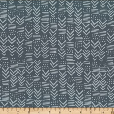Indah Hand Dyed Batiks Painted Geo Pewter