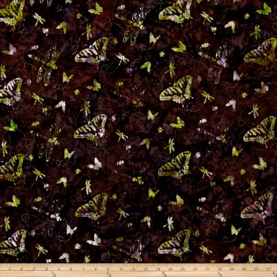 Bali Handpaint Batiks Butterflies And Dragonflies Dragonfly