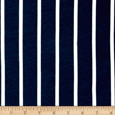 Bolt by Girl Charlee Homestead Life Jersey Knit Saloon Stripe Dark Blue/White
