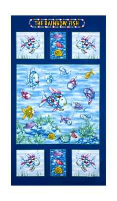 "The Rainbow Fish Glitter 24"" Panel Multi"
