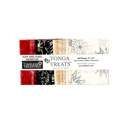 "Timeless Treasures Tonga Batik Rose 5"" Squares"