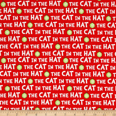 Kaufman The Cat In The Hat Christmas Words Red