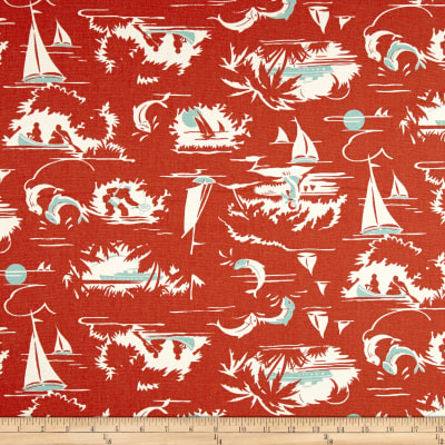Premier Prints The Bay Formica Red