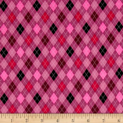 Kaufman Classy Canines Argyle Pink