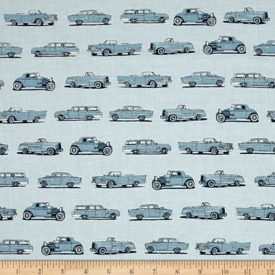 Kaufman Old Guys Rule Cars Denim