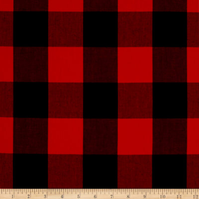 "Kaufman Carolina Gingham 2"" Scarlet"
