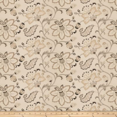 Fabricut Bettino Embroidered Linen Floral Taupe