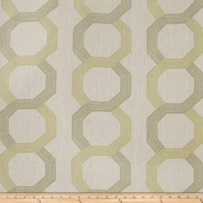 Fabricut Corner Shop Embroidered Linen Blend Lime