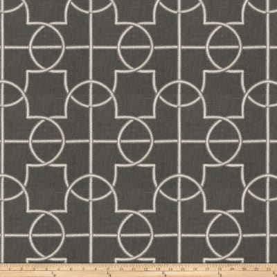 Fabricut Farina Embroidered Faux Linen Graphite