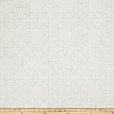 Fabricut Gentry Embroidered Linen Geometric Mist