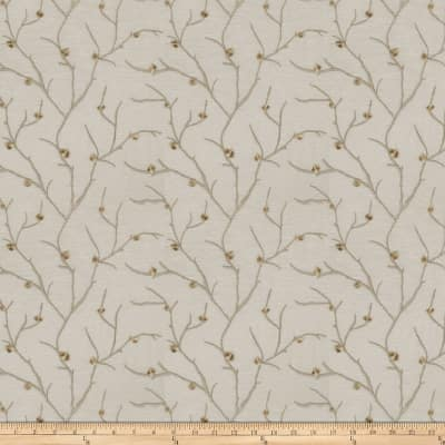 Fabricut Norroway Embroidered Sheer Taupe