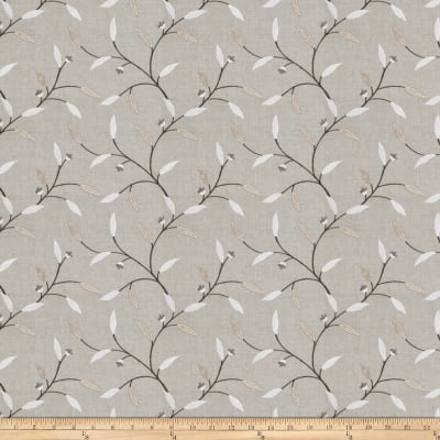 Fabricut Rudd Leaves Embroidered Linen Shadow